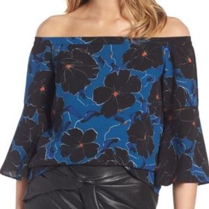 Cooper Ella Floral Cold Shoulder Bell Sleeve Top